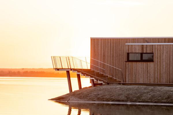 See Sauna im Marissa Ferienpark bei Sonnenuntergang